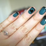 NOTD :: Turquoise and Black