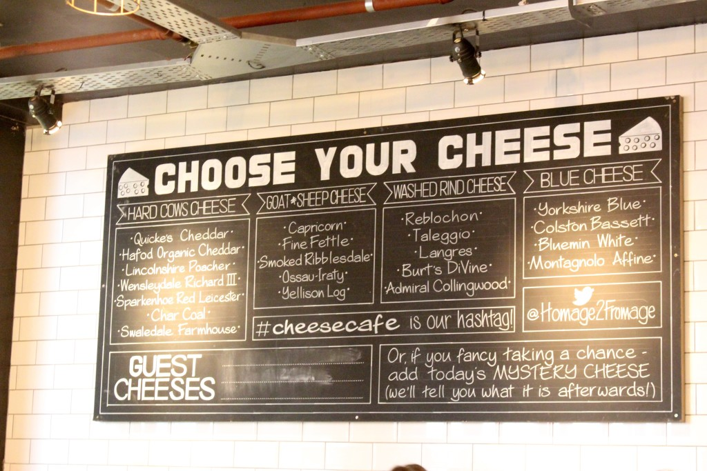 cheese menu